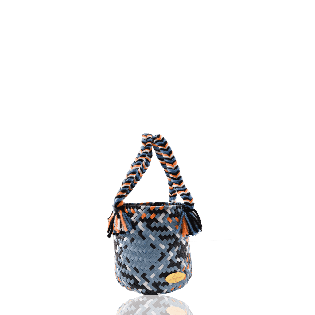 Mini Plaid Bucket Bag in Avril