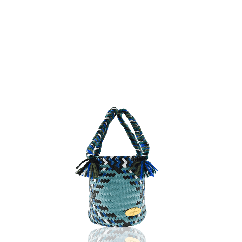 Mini Plaid Bucket Bag in Drew