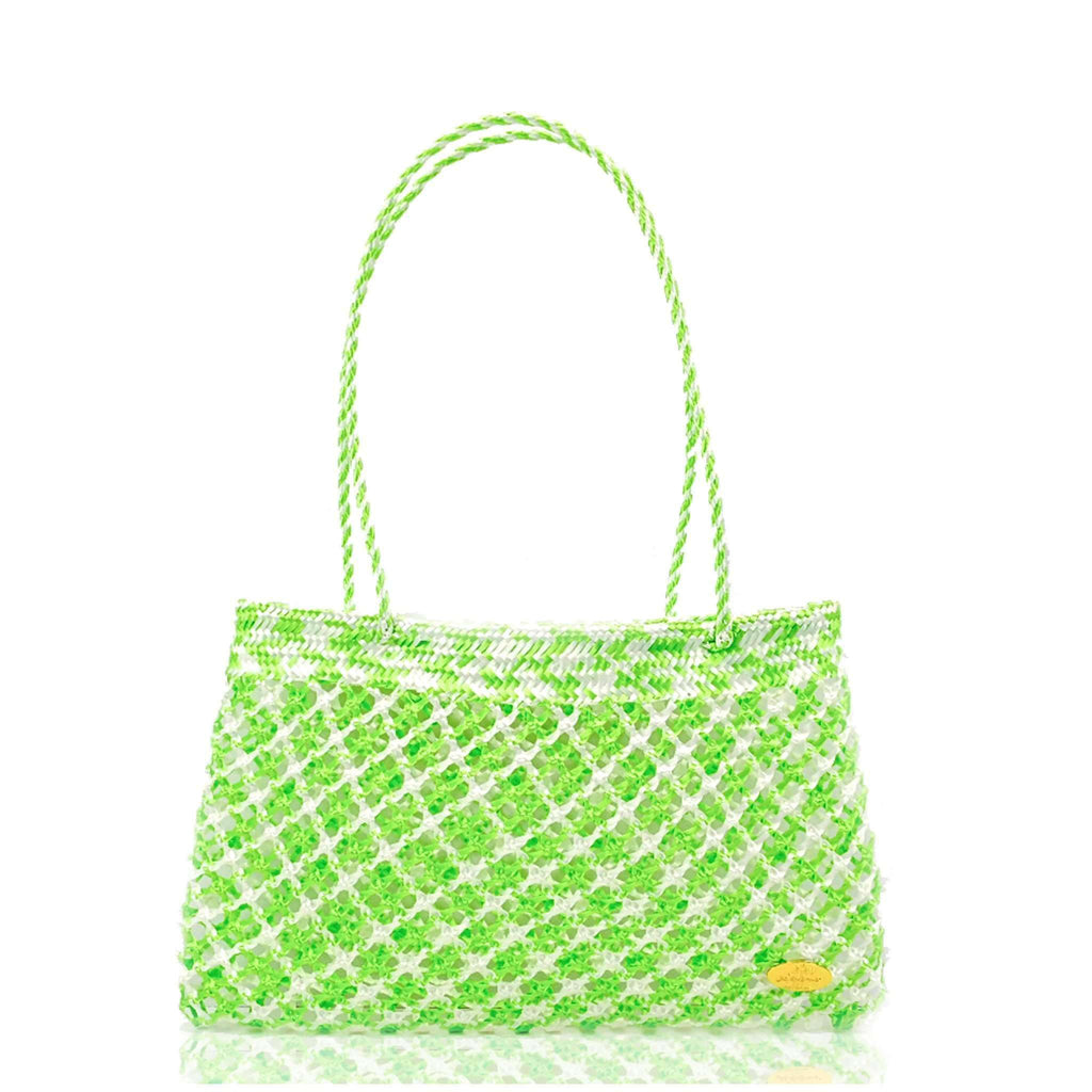 Calada Woven Mesh Bag in Fresh Mint - Josephine Alexander Collective
