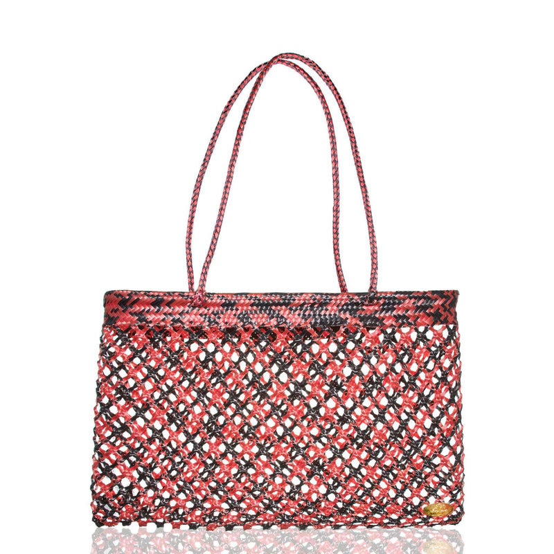 Calada Woven Mesh Bag in Spiced Orange - Josephine Alexander Collective