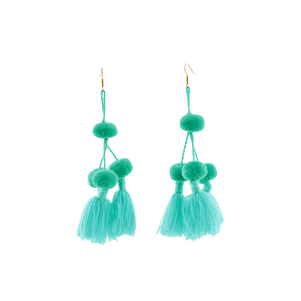 Camello Earrings in Mint