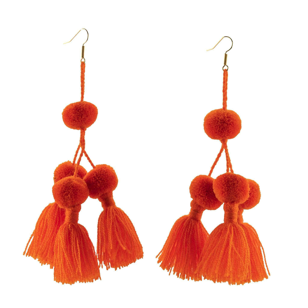 Camello Earrings in Orange