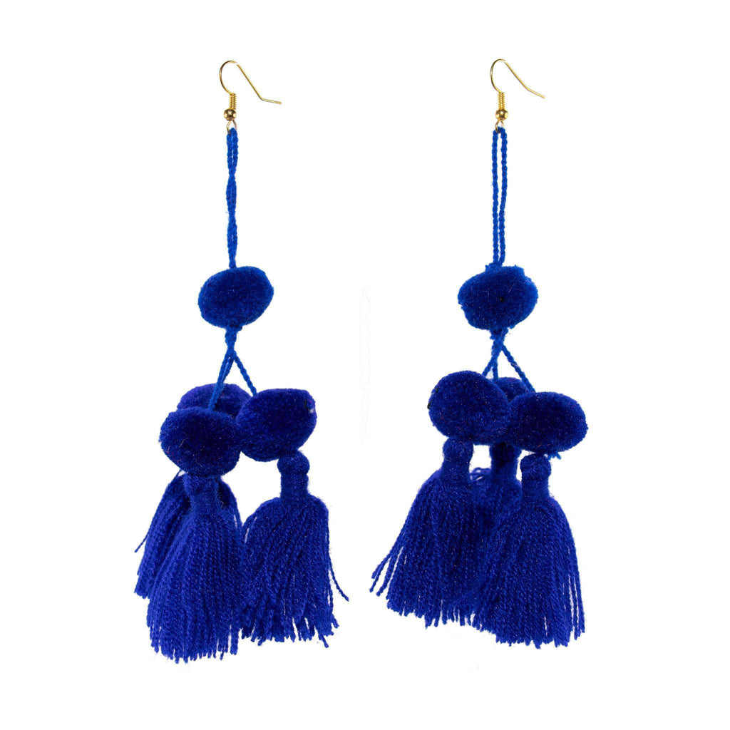 Camello Earrings in Royal