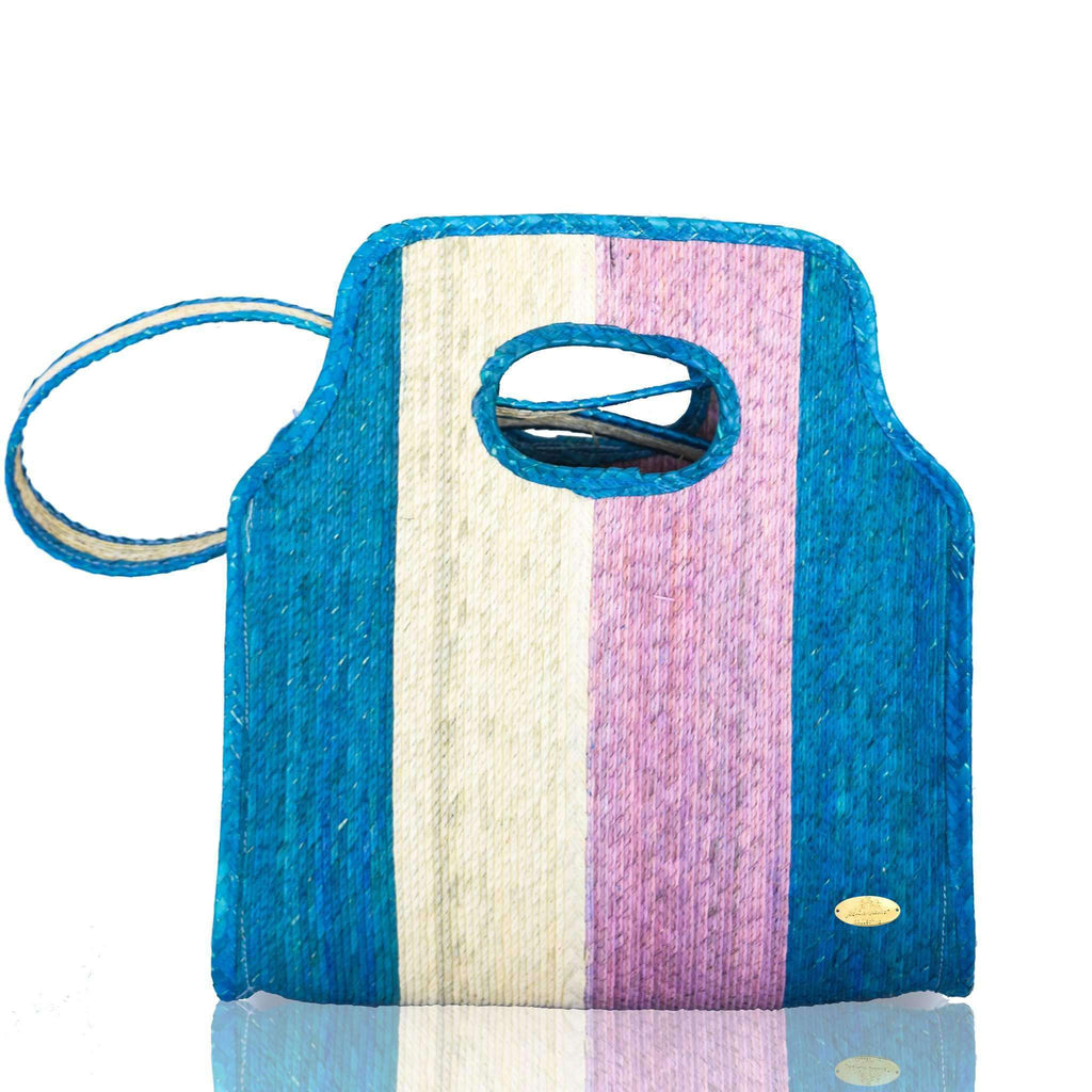 Cancun Straw Crossbody in Cielito Lindo - Josephine Alexander Collective