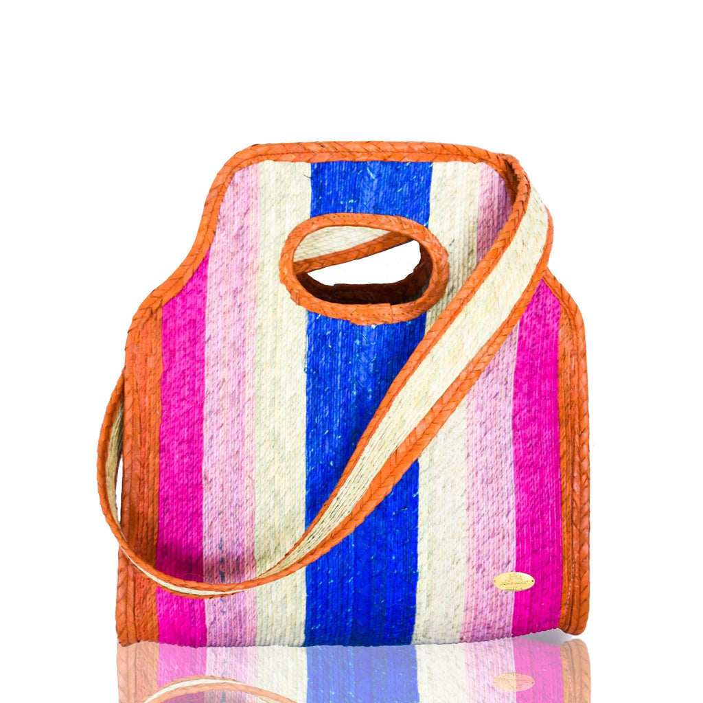 Cancun Straw Crossbody in Sunrise - Josephine Alexander Collective