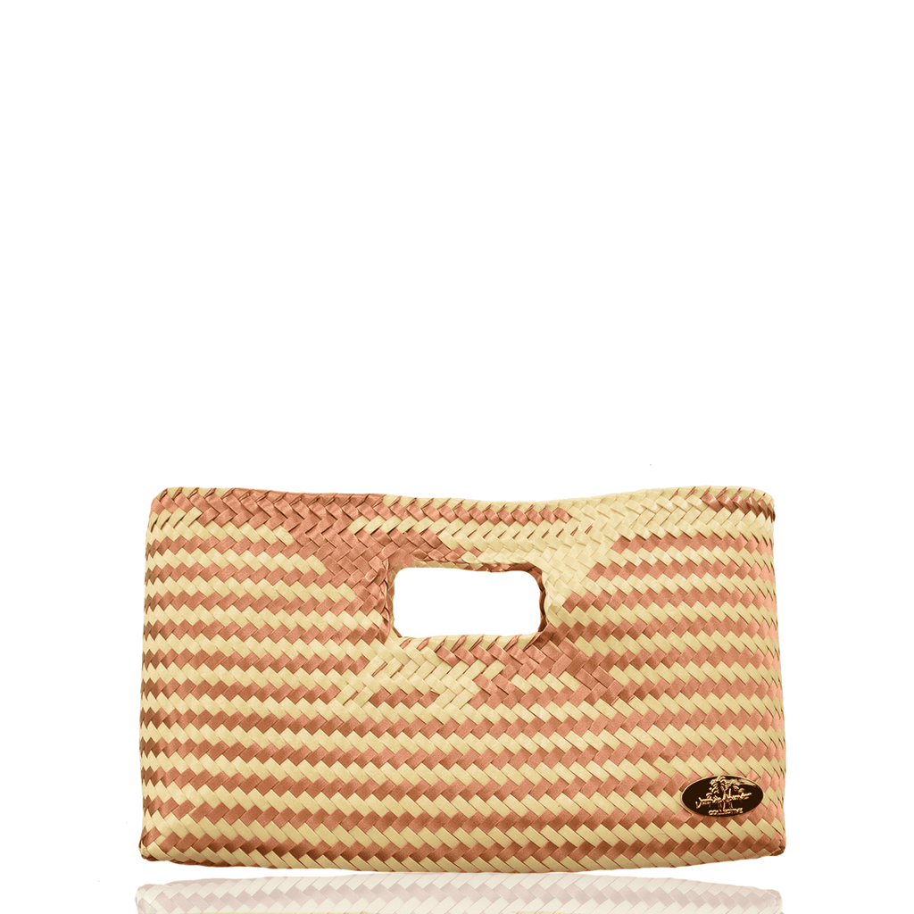 Alison Woven Clutch in Cappuccino