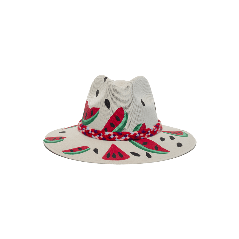Carmen Hand-painted Hat #12 - Josephine Alexander Collective
