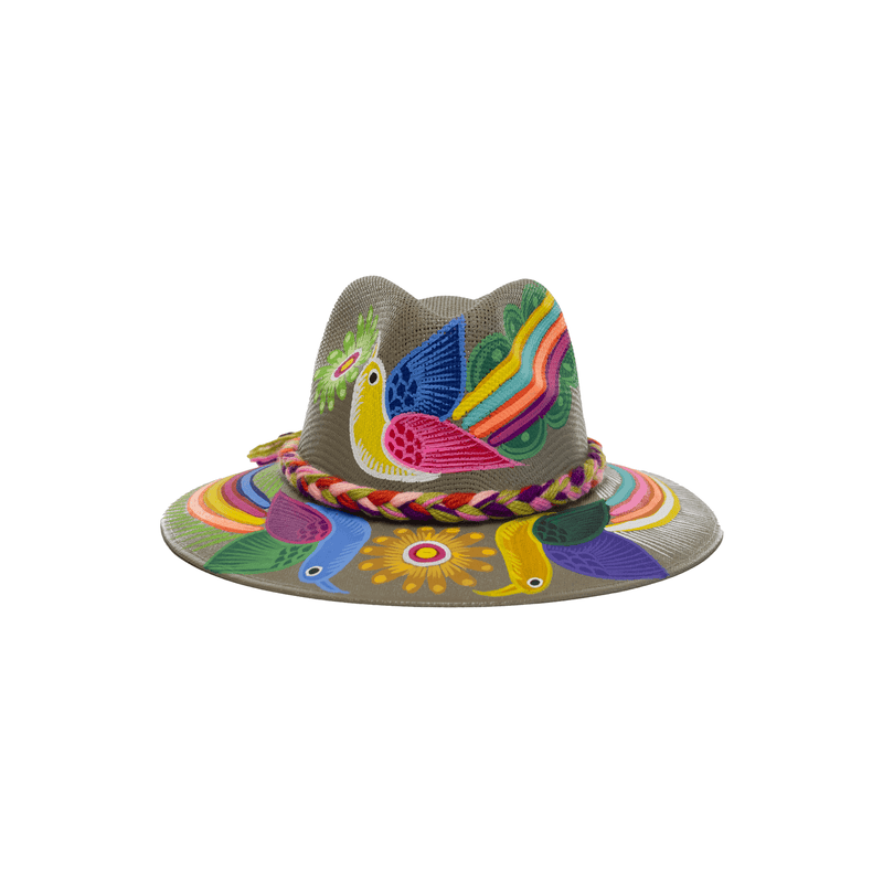 Carmen Hand-painted Hat #26 - Josephine Alexander Collective