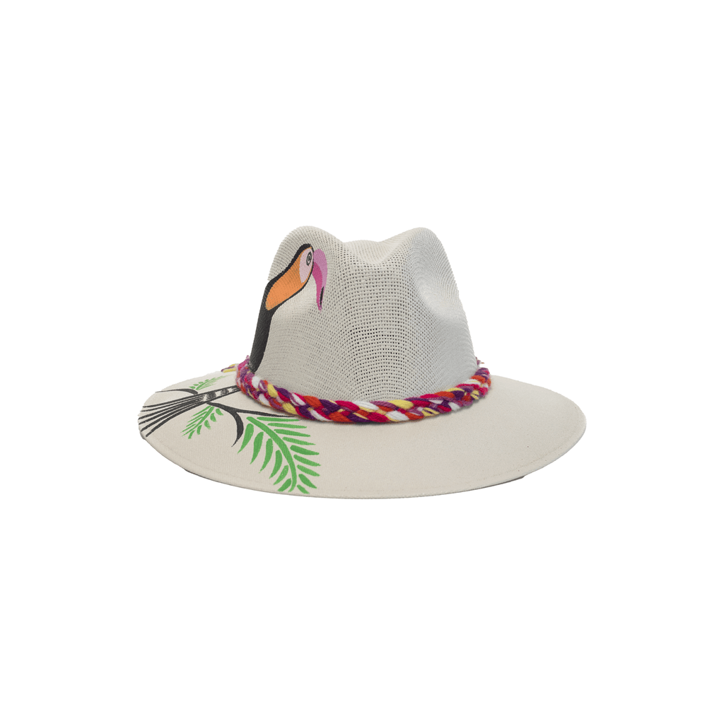 Carmen Hand-painted Hat #30 - Josephine Alexander Collective