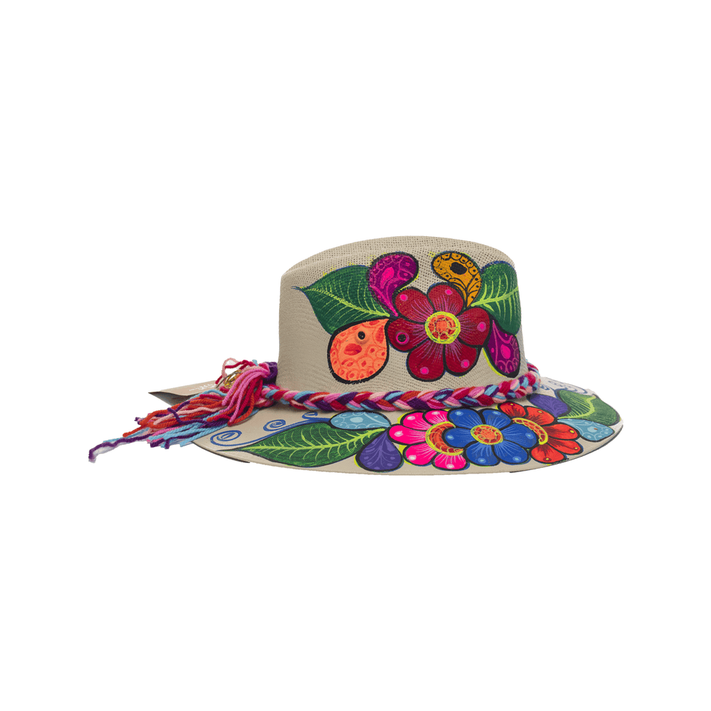 Carmen Hand-painted Hat #31 - Josephine Alexander Collective