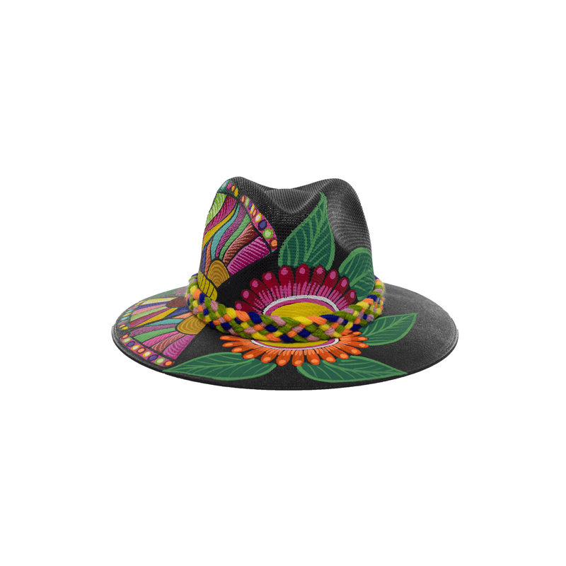 Carmen Hand-painted Hat #15 - Josephine Alexander Collective