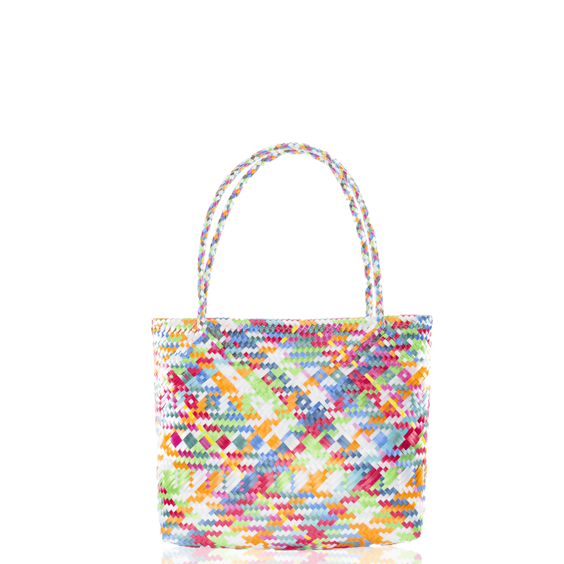 Chila Woven Bag Multi Rainbow White - Josephine Alexander Collective