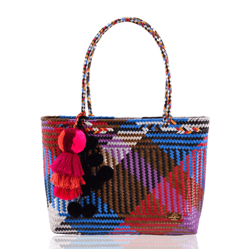 Carnaval Bag in Blue and Brown