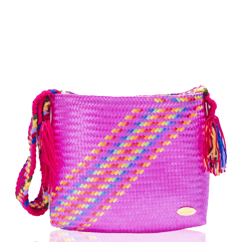 Colleen Crossbody in Pink Splash of Rainbow - Josephine Alexander Collective