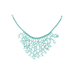 Beaded Ocean Necklace in Teal - Josephine Alexander Collective