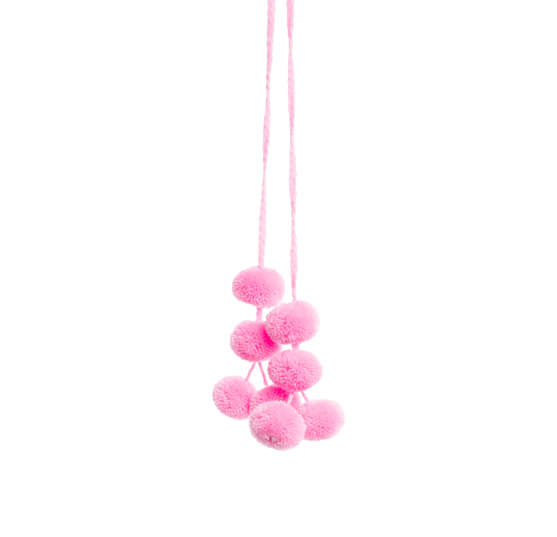 Cusco Pom Strand in Light Pink - Josephine Alexander Collective