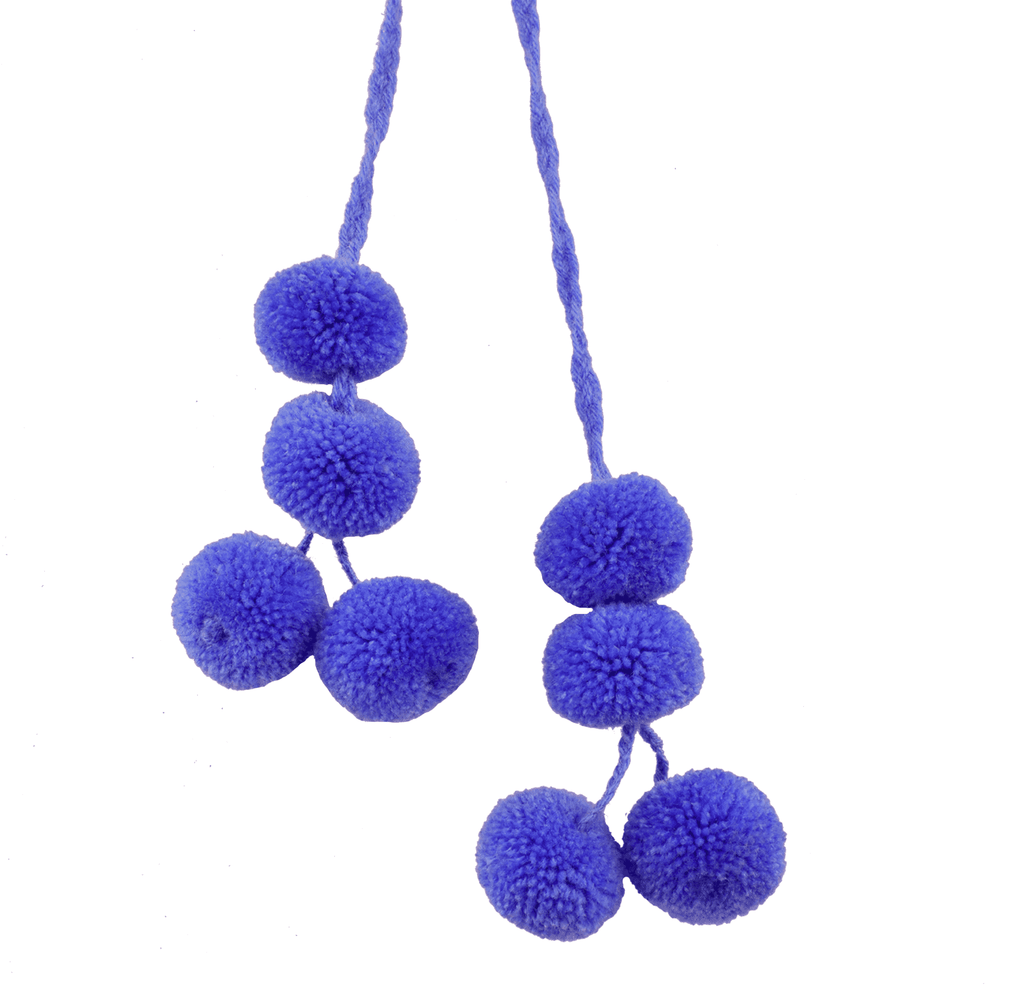 Cusco Pom Strand in Blueberry - Josephine Alexander Collective