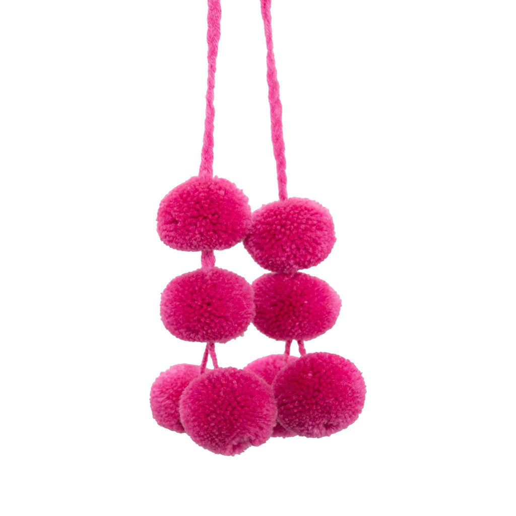 Cusco Pom Strand in Raspberry - Josephine Alexander Collective