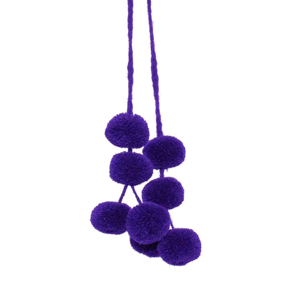 Cusco Pom Strand in Grape - Josephine Alexander Collective