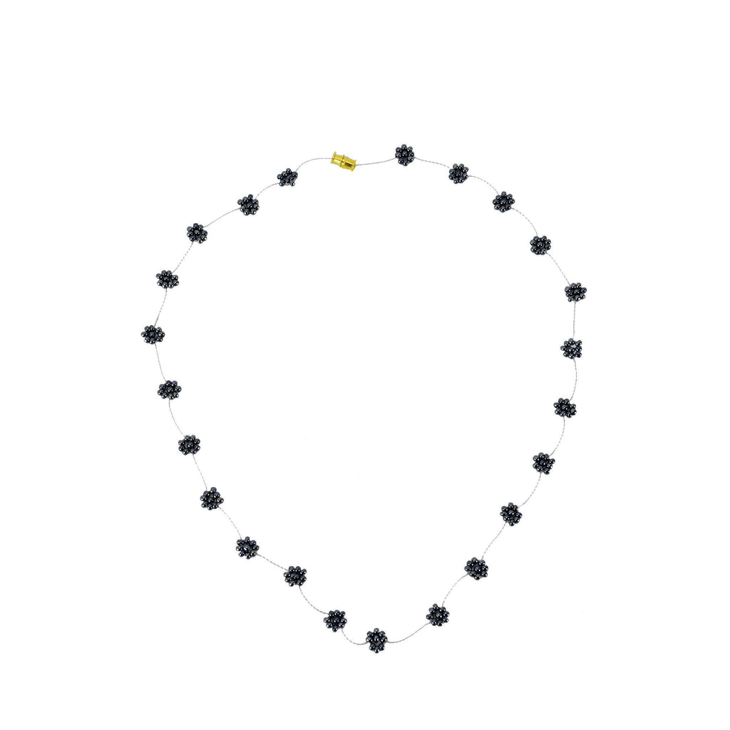 Daisy Chain Necklace in Gunmetal