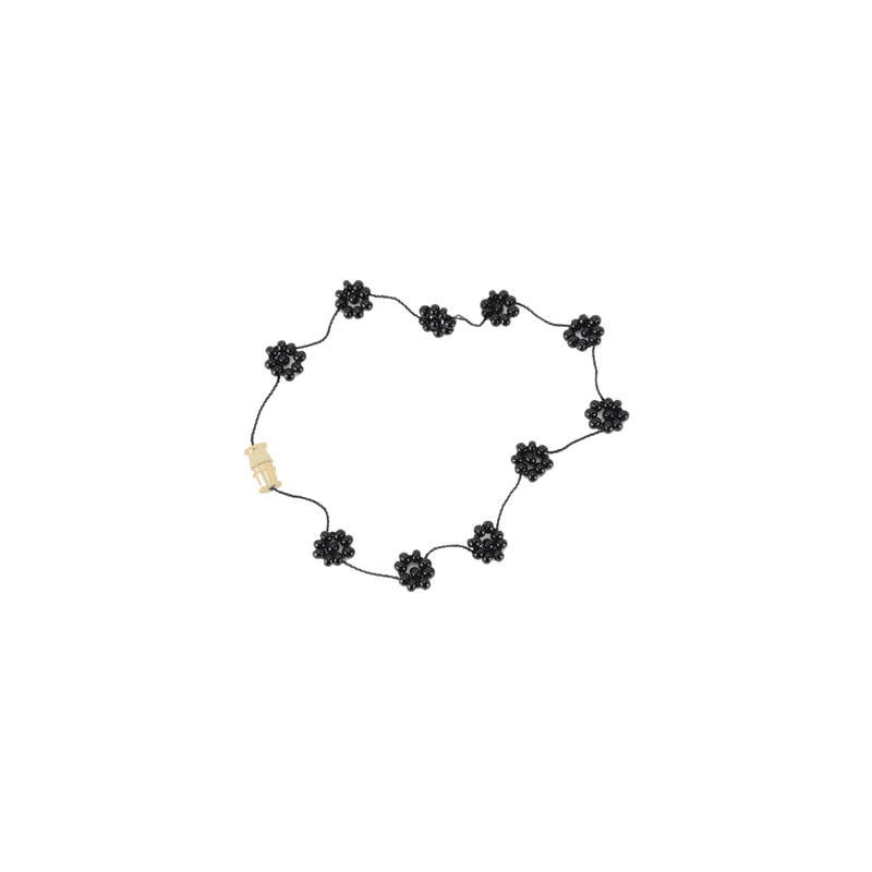 Daisy Chain Bracelet in Coal