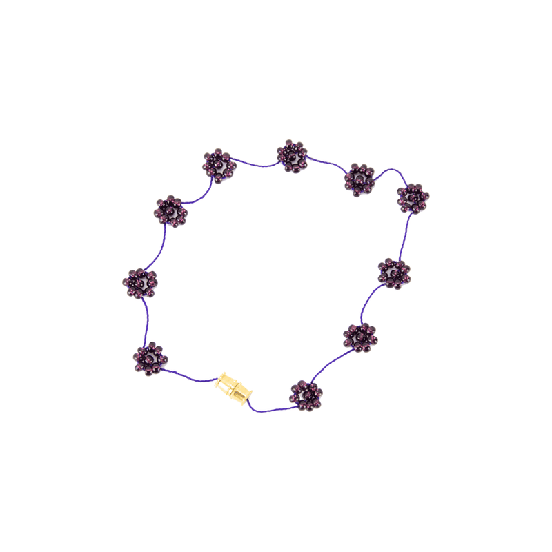 Daisy Chain Bracelet in Grape