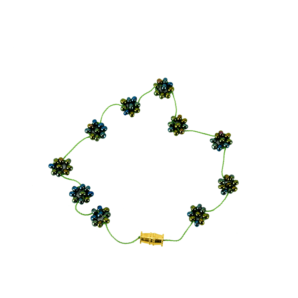 Daisy Chain Bracelet in Mermaid - Josephine Alexander Collective