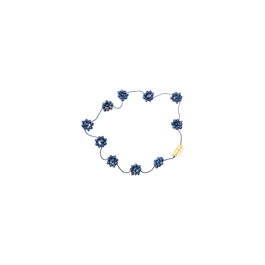 Daisy Chain Bracelet in Midnight Sky - Josephine Alexander Collective