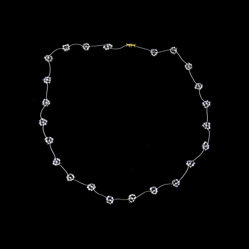 Daisy Chain Necklace in Clear Silver - Josephine Alexander Collective