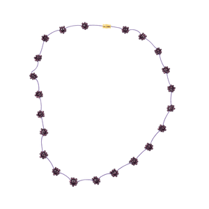 Daisy Chain Necklace in Grape