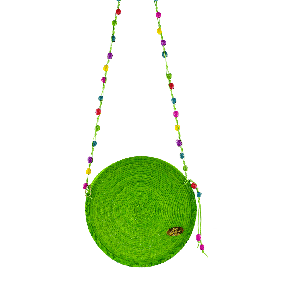 Diana Straw Bag in Green - Josephine Alexander Collective