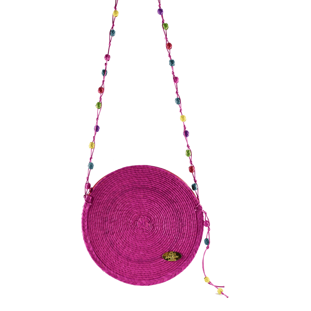 Diana Straw Bag in Pink - Large