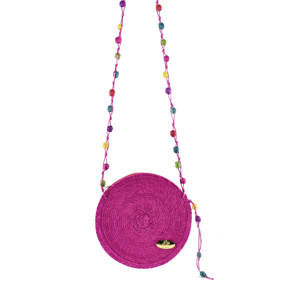 Diana Straw Bag in Pink - Small