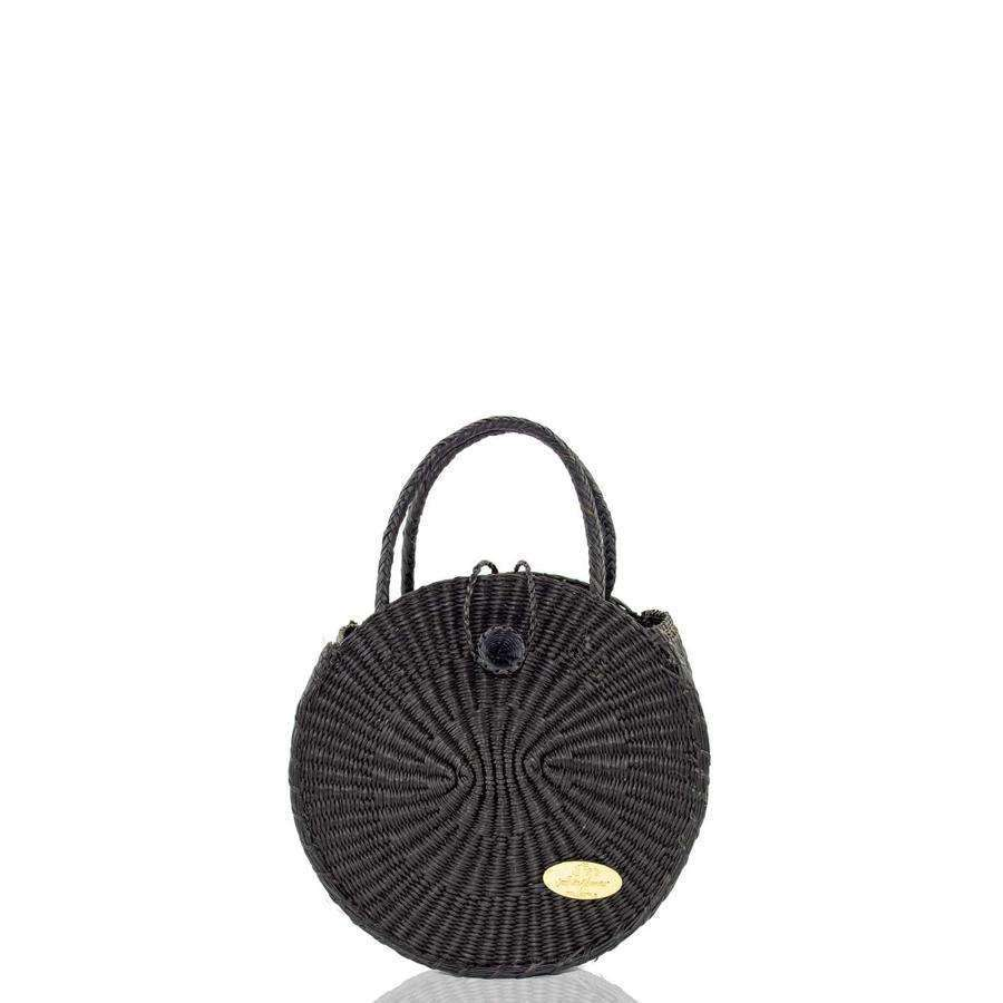 Disco Black Straw Bag