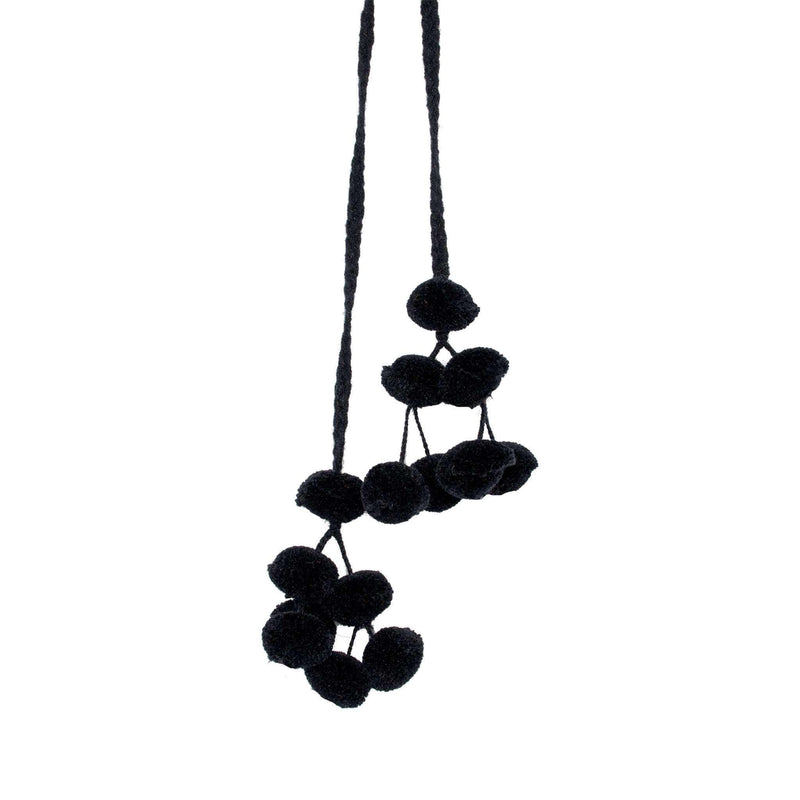 Double Cusco Pom Strand in Black Licorice - Josephine Alexander Collective
