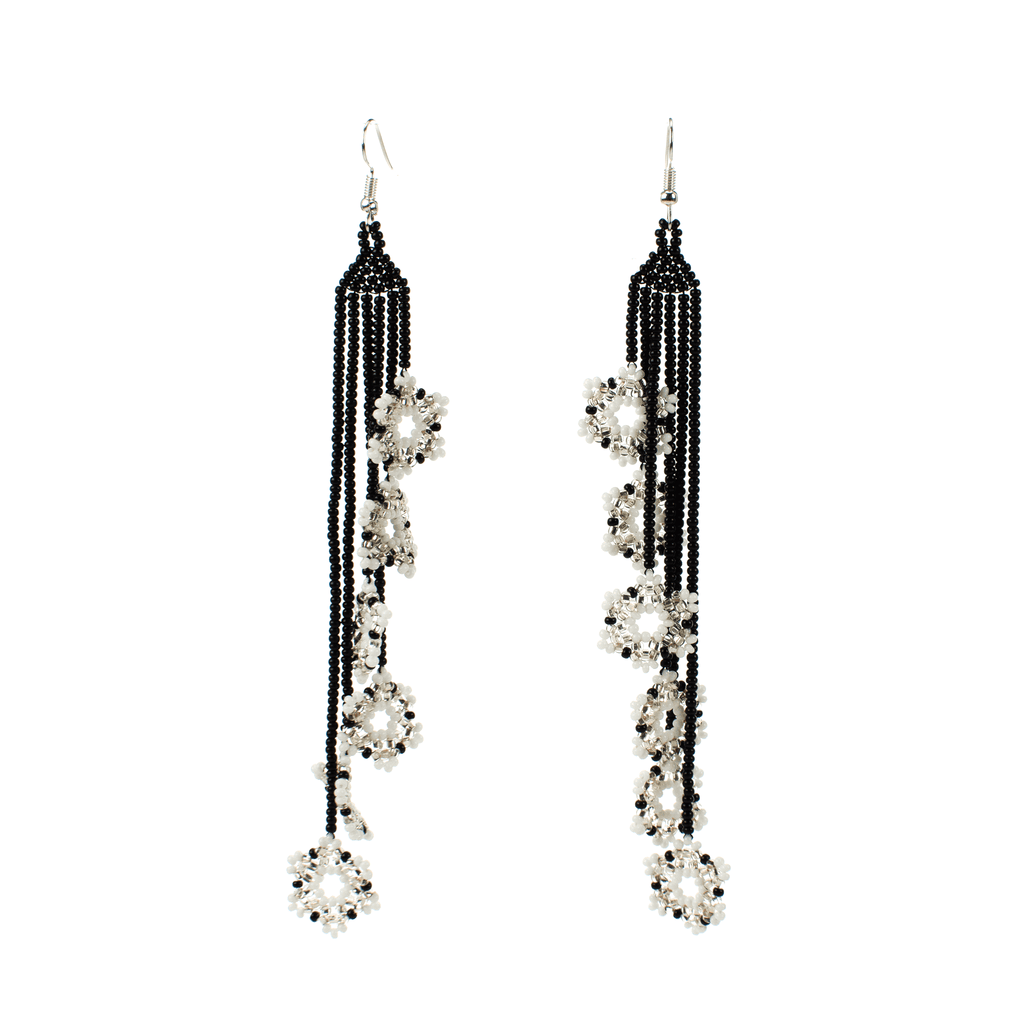 Double Ivy Earrings in Icicle