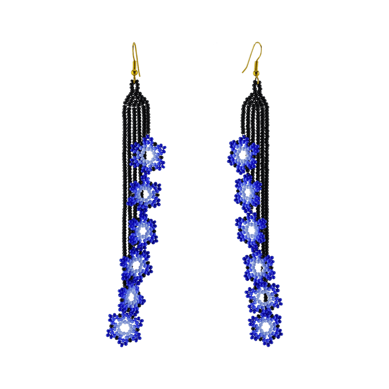 Double Ivy Earrings in Royal Blue - Josephine Alexander Collective