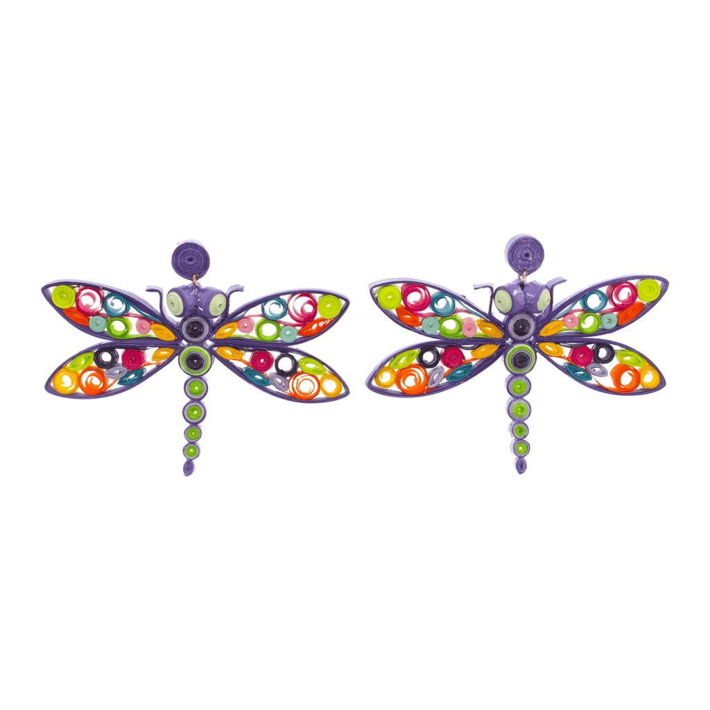 Danni the Dragonfly Quilled Earrings - Josephine Alexander Collective
