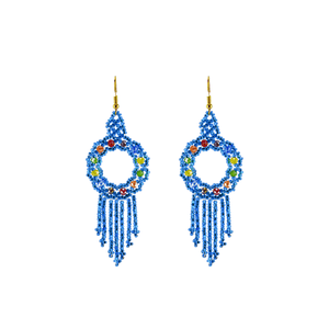 Dreamer Earrings in Sky Blue Rainbow