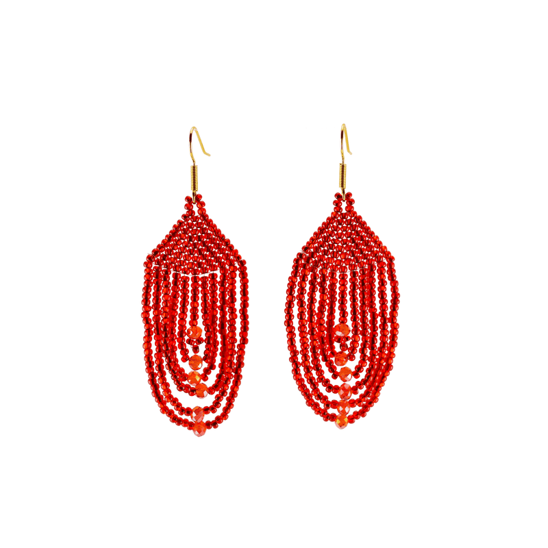 Empire Earrings in Cherry - Josephine Alexander Collective
