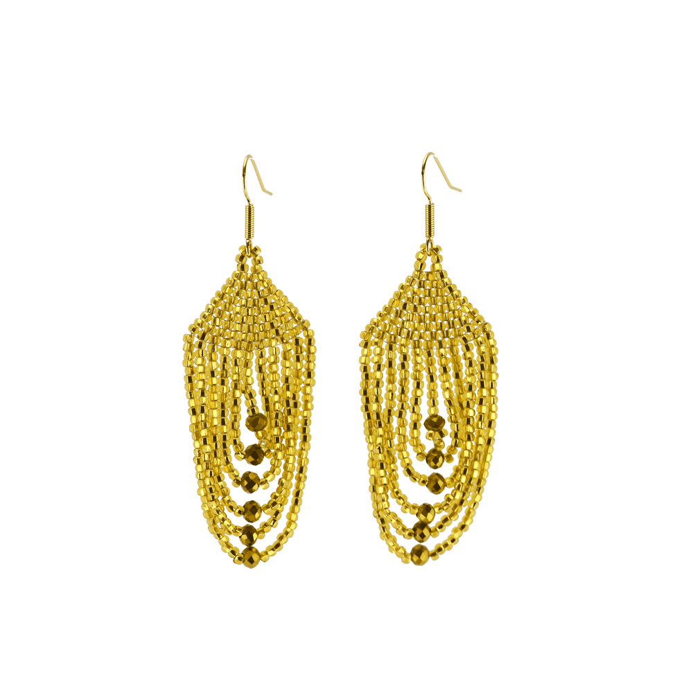 Empire Earrings in Gold