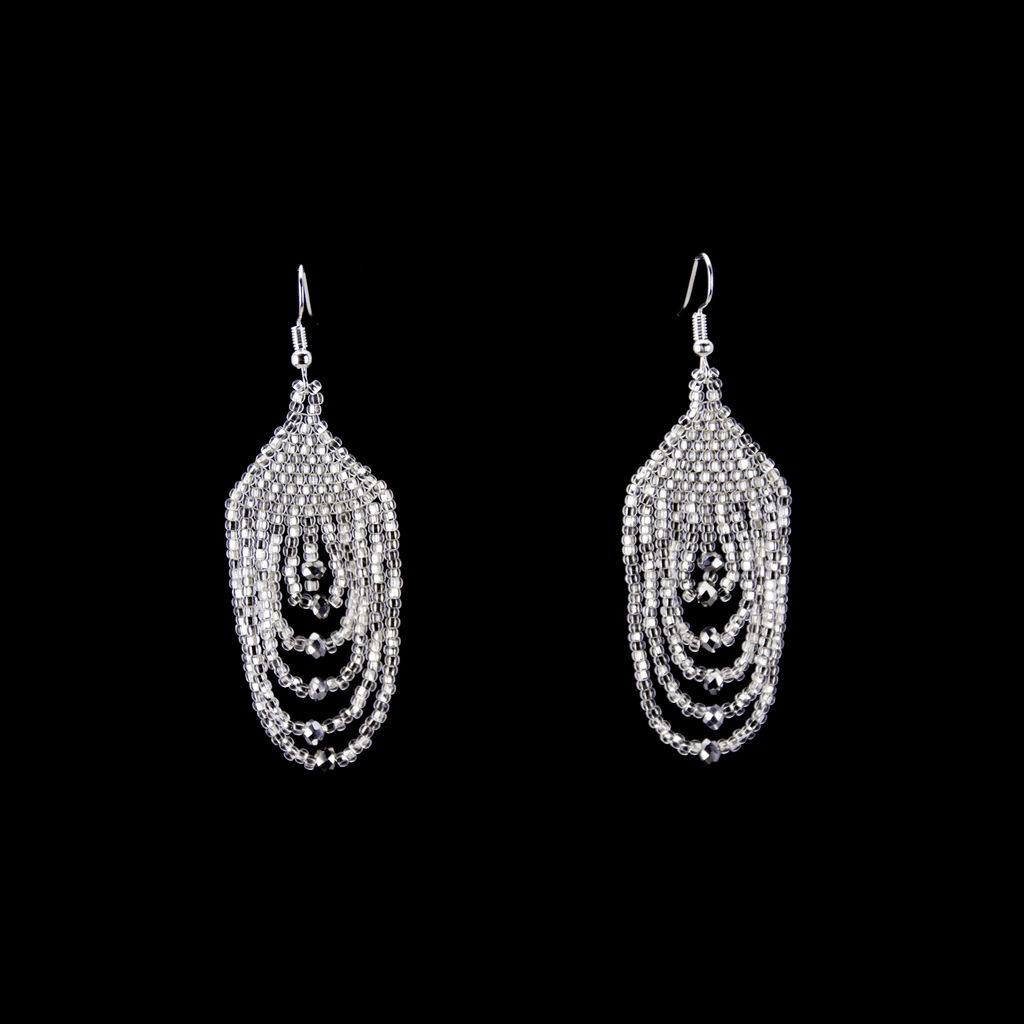 Empire Earrings in Silver - Josephine Alexander Collective