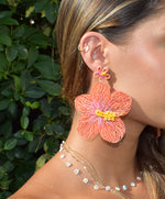 Aloha Earrings in Coral - Josephine Alexander Collective