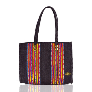 Fiesta Straw Bag in Chocolate