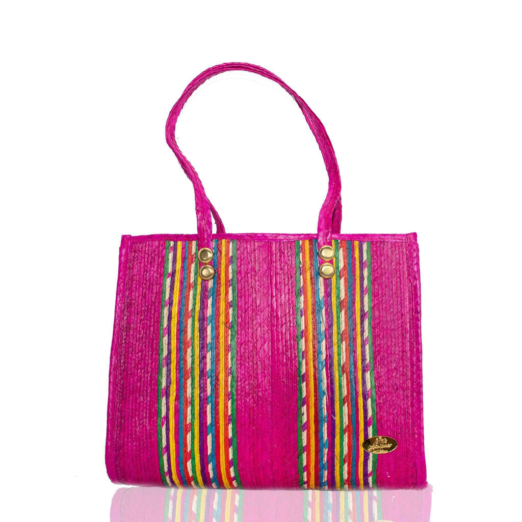 Fiesta Straw Bag in Frose´