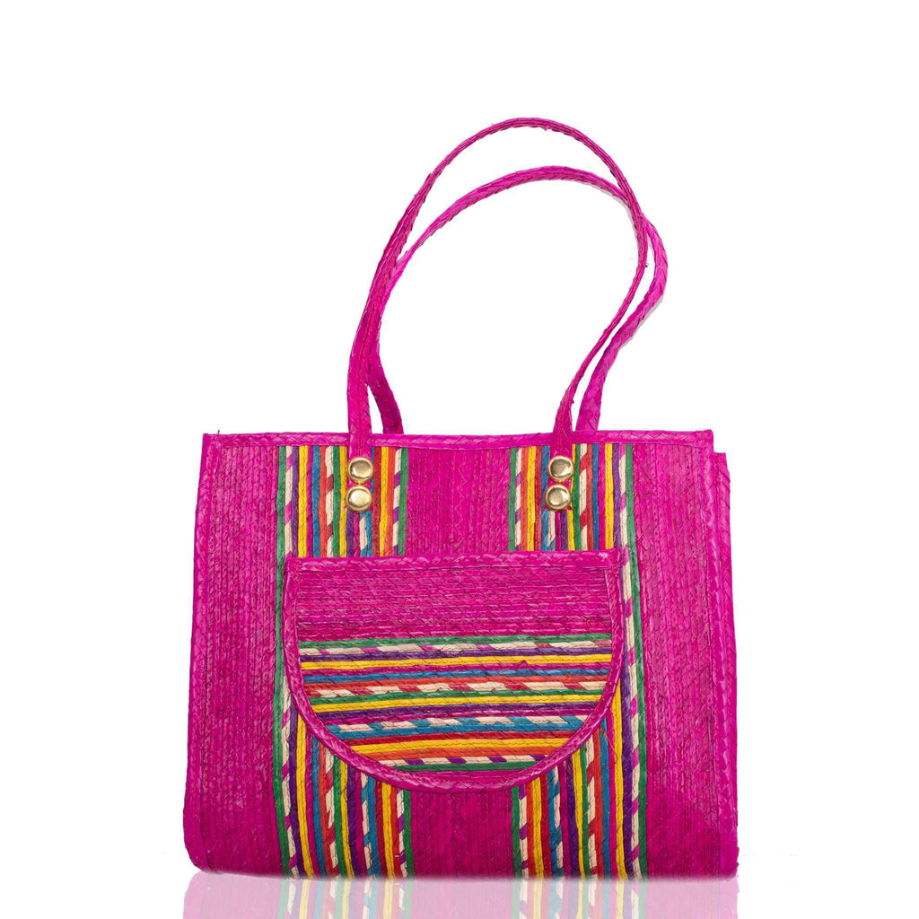 Fiesta Straw Bag in Frose´ - Josephine Alexander Collective