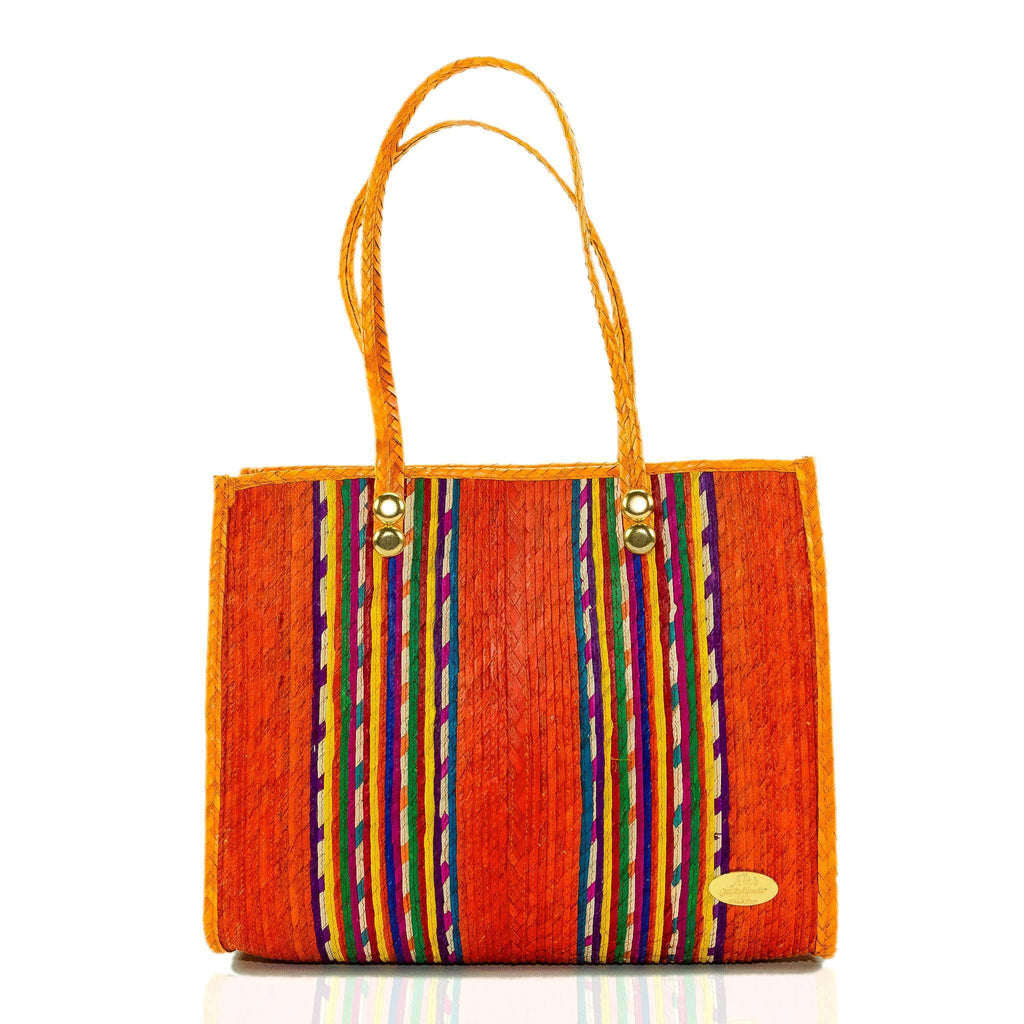 Fiesta Straw Bag in Tequila Sunrise