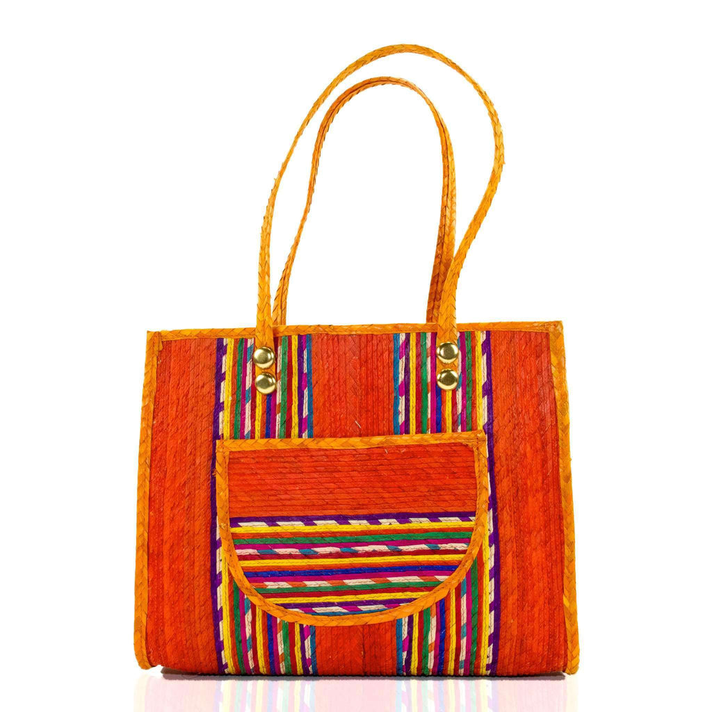 Fiesta Straw Bag in Tequila Sunrise - Josephine Alexander Collective