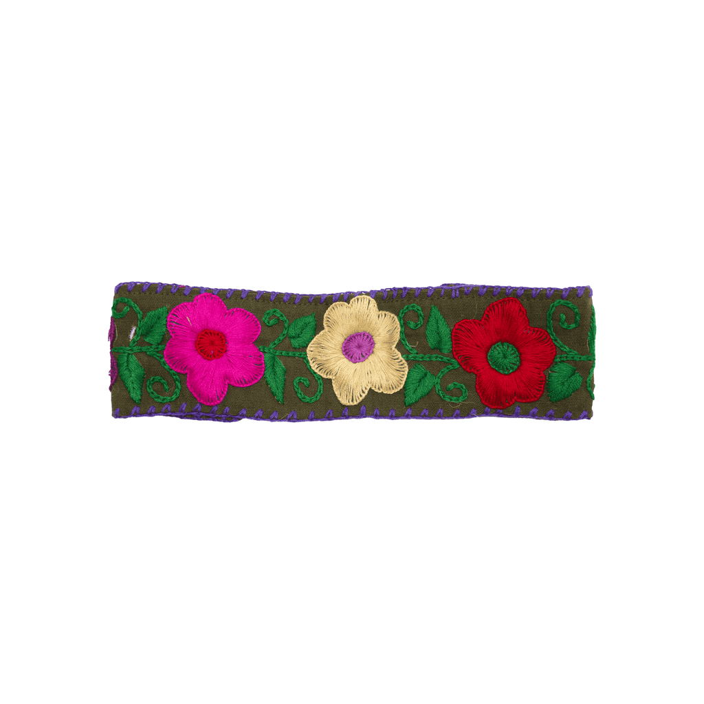 Flower Headband in Deep Olive - Josephine Alexander Collective
