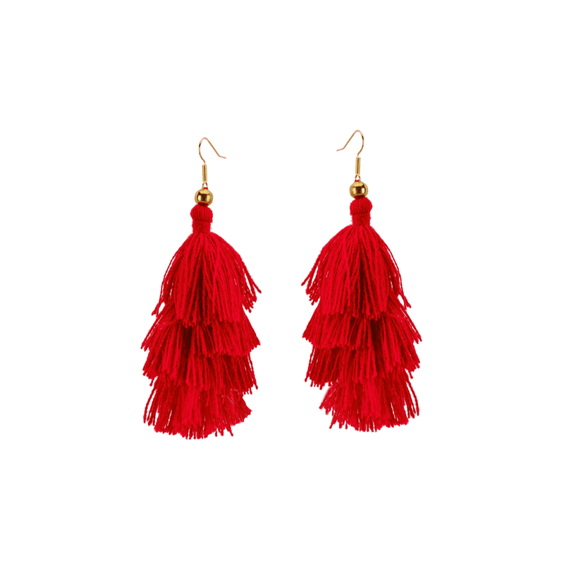Four Tier Earrings in Sandía - Josephine Alexander Collective